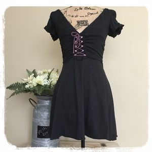 Free People Dark Gray Corset Dress sz. XS